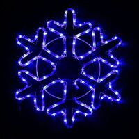 Фигура светодиодн Снежинка 50см А-278