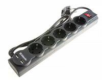 Фильтр сетевой Defender DFS-755 5гн+2USB 5м