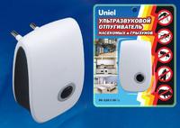 Отпугиватель грызунов 220В Uniel UDR-E11 80м2 бел